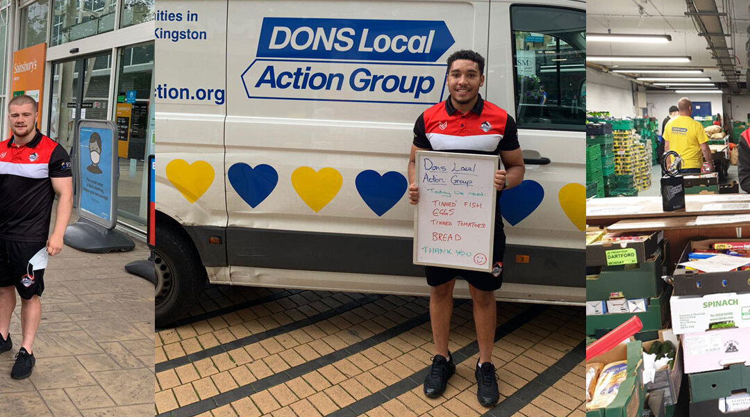 Broncos partner with Dons Local Action Group and AFC Wimbledon to help families in need